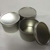 Candlewic Large Candle Tin (240ml), 12 Pieces with Lids