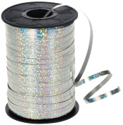 HIART Holographic Curling Ribbon, 0.5cm by 500 yd, Metallic Silver