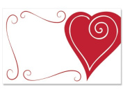 50 pack Heart Swirl Border- NoSentiment Enclosure Cards