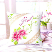 DOMEI Floral Design Cushion Cover Stamped Cross Stitch Kit, 46cm x 46cm