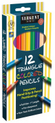Sargent Art 22-7206 Triangle Coloured Pencils, 12 Count