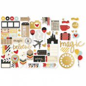 Simple Stories Say Cheese II Bits & Pieces Die-Cuts, Gold