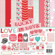 Echo Park Paper Company Lucky in Love Collection Scrapbooking Kit