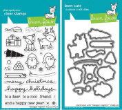 Lawn Fawn Toboggan Together Clear Stamp and Die Set - Includes One Each of LF976 (Stamp) & LF977 (Die) - Bundle Of 2
