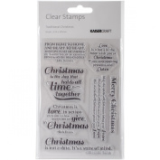 Kaisercraft Clear Stamps, 16cm by 10cm , Traditional Christmas