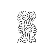 Quilting Creations Feather Border Quilt Stencil, 20cm