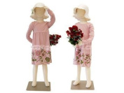 (JF-CH05T) New Child dress Form 5 years old white jersey form cover, with head, flexible arms, fingers & legs, metal base
