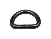 Generic Metal Gun Black D Ring Buckle D-Rings 2.5cm Inside Diameter Pack of 10