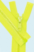 70cm Vislon Zipper ~ YKK #5 Moulded Plastic Sport Zipper ~ Separating - 535 Neon Green