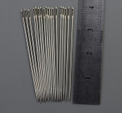 50 Pieces 10cm Nickel Colour Plated Leathercraft Tapestry Knitter Wool Darning Stitching Needles- Large eye and sharp point