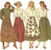 Simplicity vintage sewing pattern 9876 pleated skirts - Size 6-14