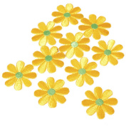 TOOGOO(R) 10pcs Embroidered Applique Flower Patches Sewing Craft Decoration