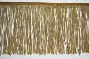 Altotux 15cm Antique Gold Long Silky Dance Costume Rayon Chainette Fringe Trim
