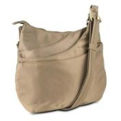 Travelon Anti-Theft Drape Pocket Crossbody w/ RFID Protection, Beige