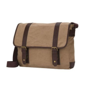 World Traveller The Riverside 41cm Flap Over Canvas Tablet Laptop Messenger Bag