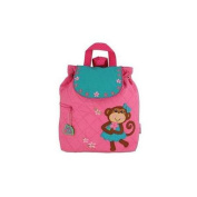 Girl Monkey Quilted Backpack by Stephen Joseph - SJ100199C