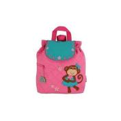 Girl Monkey Quilted Backpack by Stephen Joseph - SJ100199C