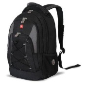 SwissGear 11862415 Polyester Bungee Backpack - Black & Grey, 18. 13cm