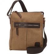 Laurex Canvas Tourist Slim Messenger Bag with Leather Accent