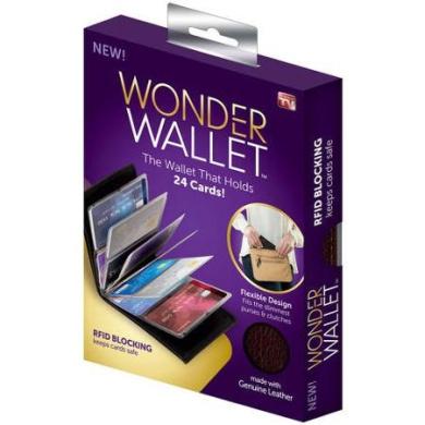 As Seen on TV Wonder Wallet, Black