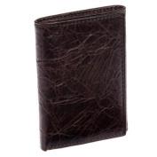 ROLFS Brown Brass Genuine Premium Leather Distressed Billfold Trifold Wallet NEW