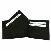 Luxury Divas Black Leather Men's Bifold Wallet With Removable ID