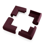 4Pcs Child Baby Kids Safety Corner Edge Protectors Soft Cover Protector Cushion Guard - Wood