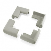 1Pc Child Baby Kids Safety Corner Edge Protectors Soft Cover Protector Cushion Guard - Grey