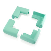 4Pcs Child Baby Kids Safety Corner Edge Protectors Soft Cover Protector Cushion Guard - Green