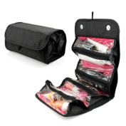 4 Zippered Compartment Makeup Toiletry Cosmetics Medicine Shaving Accessory Kit Travle Bag Organiser