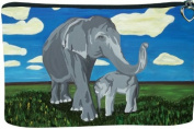 Elephant Cosmetic Bag, Zip-top Closer - Taken From My Original Paintings, Gentle Giants