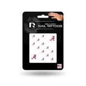 Alabama Crimson Tide Official NCAA 2.5cm x 2.5cm Fingernail Tattoo Set by Rico Industries