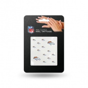 Denver Broncos Official NFL 2.5cm Fingernail Tattoo Set Broncos by Rico Industries