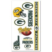 Green Bay Packers Official NFL 10cm x 18cm Temporary Tattoos by Wincraft
