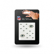 Green Bay Packers Official NFL 2.5cm x 2.5cm Fingernail Tattoo Set by Rico Industries