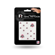 Ohio State Buckeyes Official NCAA 2.5cm x 2.5cm Fingernail Tattoo Set by Rico Industries