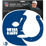 NFL Indianapolis Colts Game Day Face Temporary Tattoo, Large 134216 Siskiyou Sports