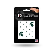 Michigan State Spartans Official NCAA 2.5cm x 2.5cm Fingernail Tattoo Set by Rico Industries