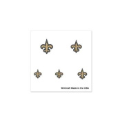 New Orleans Saints Official NFL 2.5cm x 2.5cm Fingernail Tattoo Set by Wincraft