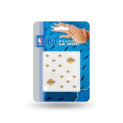 Los Angeles Lakers Official NBA 2.5cm x 2.5cm Fingernail Tattoo Set by Rico Industries