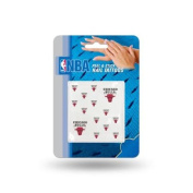 Chicago Bulls Official NBA 2.5cm x 2.5cm Fingernail Tattoo Set by Rico Industries