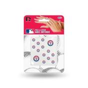 Texas Rangers Official MLB 2.5cm x 2.5cm Fingernail Tattoo Set by Rico Industries