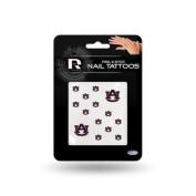 Auburn Tigers Official NCAA 2.5cm x 2.5cm Fingernail Tattoo Set by Rico Industries