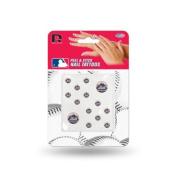 New York Mets Official MLB 2.5cm x 2.5cm Fingernail Tattoo Set by Rico Industries