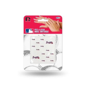 Atlanta Braves Official MLB 2.5cm x 2.5cm Fingernail Tattoo Set by Rico Industries
