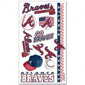 Atlanta Braves Official MLB 10cm x 18cm Temporary Tattoos by Wincraft