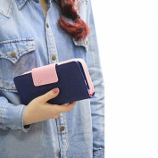 Tongshi Women's Birds Clutch Wallet Leather Purse