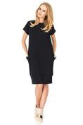 Futuro Fashion Classic Elegant Column Dress with Pockets Boat Neck Short Sleeve FA384