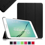 Fintie Ultra Slim Lightweight Case Stand Cover for Samsung Galaxy Tab S2 9.7 Tablet SM-T810 / SM-T815, Black