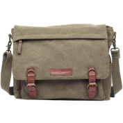 Kelly Moore Kate Camera/Tablet Bag with Shoulder & Messenger Strap (Khaki) Includes Removable Padded Basket